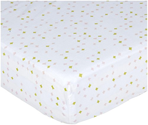 Pehr Designs Constellation Crib Sheet  Pink/Citron