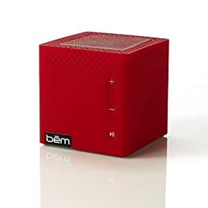 Bem HL2022C Bluetooth Mobile Speaker for Smartphones – Retail Packaging – Red