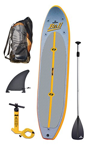 Solstice Bali Inflatable Stand Up Paddleboard with Paddle, Orange/Grey, 10-Feet 8-Inch