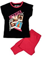New Kids Girls Official Joey Essex Celebrity Pyjamas Short Sleeve Long Pants PJS Pyjama Set Childrens Size UK 7-13 Years.