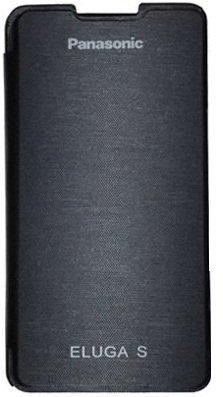 Dashmesh Shopping Premium Durable Flip Cover Case for Panasonic Eluga S BLACK