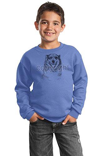 Australian Shepherd Youth Sweatshirt by Kelly Six