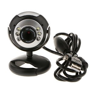 Banggood 5M 6 LED USB Webcams Camera Web Cam With Mic For PC Laptop Computers