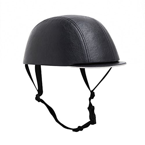 Skateboard Bicycle Bike Cycling Skiing Outdoor Sports Protective Equipment headgear Abs Cork Inner Shell Helmet Dark Navy Leather