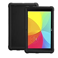 LG G Pad 10.1 Case - Poetic LG G Pad 10.1 Case [TURTLE SKIN Series] - Rugged Protective Silicone Case for LG G Pad 10.1 (V700) Black