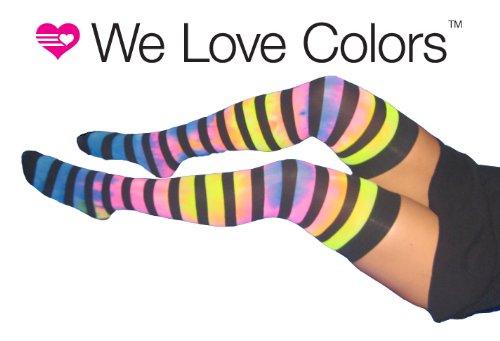 5f1402ea04ea7 Knee High Socks- Striped Thigh Highs with Unique Custom Splash Design!