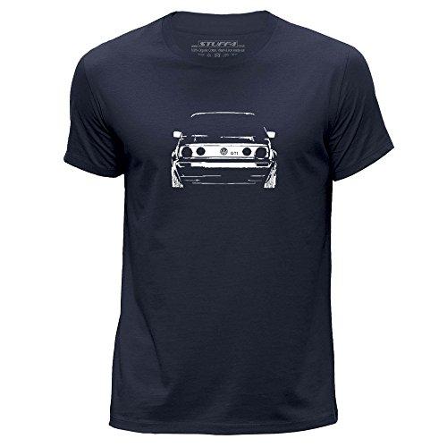 stuff4-hommes-moyen-m-bleu-marin-col-rond-t-shirt-stencil-art-de-voiture-vw-gti-mk2