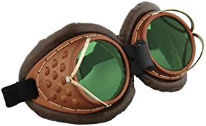 elope Machinist Goggles, Brown/Green, One Size