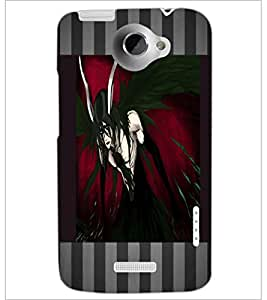PrintDhaba Black Angel D-4609 Back Case Cover for HTC ONE X (Multi-Coloured)