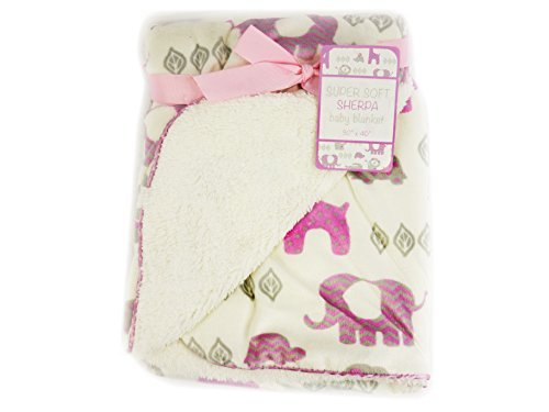 "Soft Sherpa Baby Blanket ""Sweet Zoo Girls"" - 1"