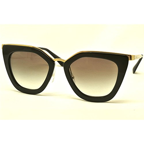 Prada - PRADA CINÉMA EVOLUTION SPR 53SS, Cat eye, metallo, donna, BLACK/GREY SHADED(1AB-0A7), 52/21/140