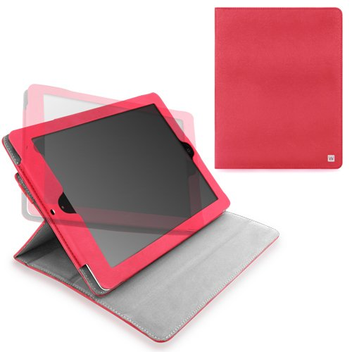 CaseCrown Axis Flip Case (Hot Pink) for iPad 4th Generation with Retina Display, iPad 3 & iPad 2 (Built-in magnet for sleep / wake feature)