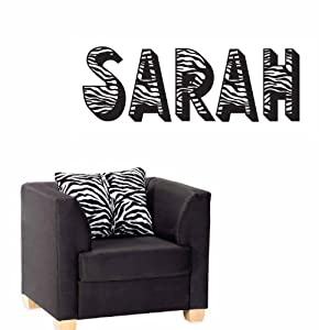 Amazon.com - ZEBRA Print Animal Pattern Personalized Letters