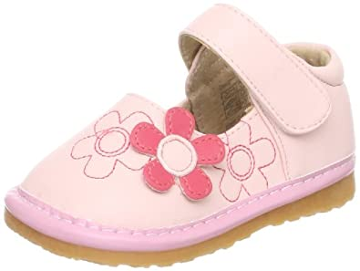 Little Blue Lamb Baby Squeaky Shoes, Girls, Removable Squeaker, + Mini
