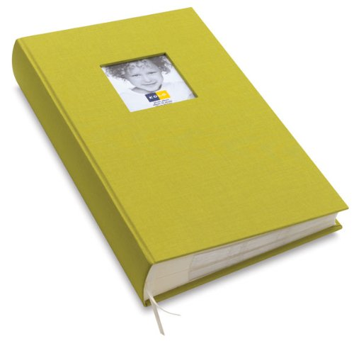 New 'Hudson' chartreuse cloth book-bound by Kolo - 4x6