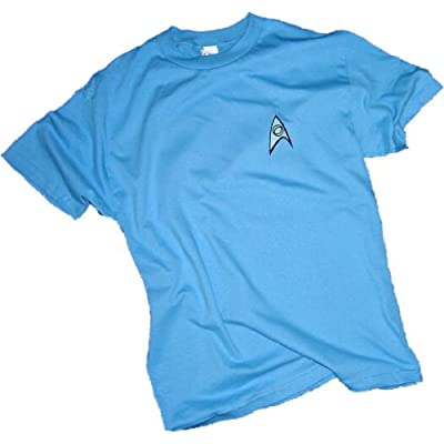 Star Trek USS Enterprise Science Crew Mr Spock Uniform T-Shirt L
