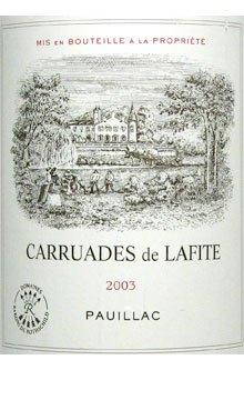 2003 Lafite Rothschild Carruades De Lafite Pauillac 750Ml