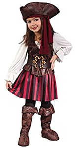 High Seas Buccaneer Pirate Costume Girl -Toddler (24M-2T)
