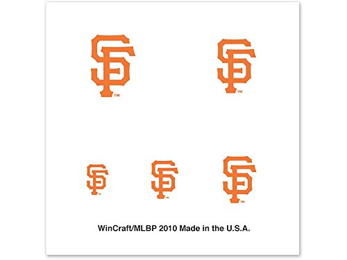 SAN FRANCISCO GIANTS OFFICIAL LOGO FINGERNAIL TATTOOS