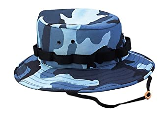 5558 Sky Blue Camo Jungle Hat (Medium)