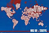 Your Space UK Pp32938 World Map Of Stereotypes Maxi Size Wall Poster 61Cm X 91.5Cm