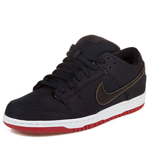 "Nike Mens Dunk Low Premium Sb ""Blue Denim Levis"" Obsidian Blue/Gold-Red Synthetic Skateboarding Size 13"