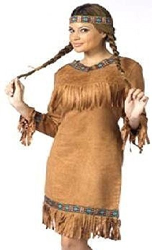 Adult Native American Indian Costume Size Small/Medium (2-8)