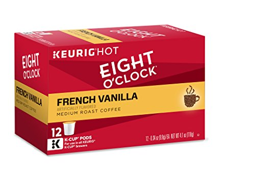 Eight O'Clock Coffee French Vanilla, Keurig K-Cups, 12 Count, (Pack of 6) (Coffee Bean French Brew Pods compare prices)