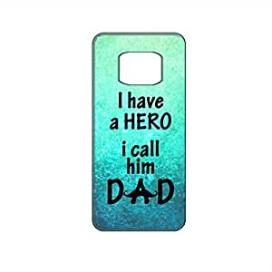 Vibhar printed case back cover for Samsung Galaxy Alpha Dad