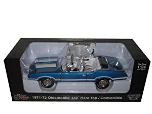 1971 1972 Oldsmobile 442 W-30 Convertible Blue 1/24