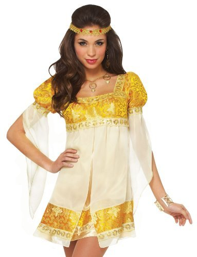 Womens Sexy and Fun Golden Renaissance/Medieval Princess Costume