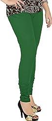 Red Chilli Women's Cotton Slim Fit Leggings (alg_024_rc, Free Size, Crocodile Green)
