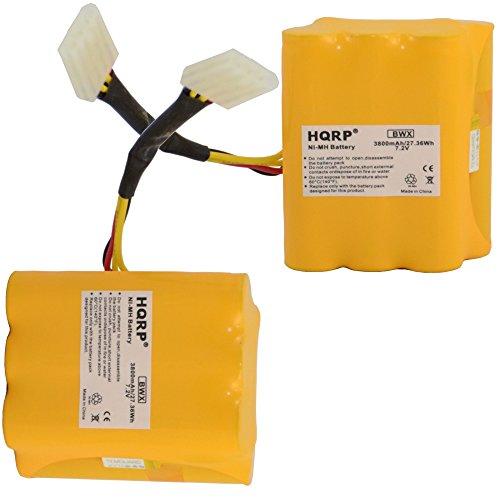 HQRP 3800mAh Super Extended Battery 2-Pack for Neato XV-25 XV-21 XV-15 XV-14 XV-12 XV-11 XV Signature Pro 945-0005 205-0001 945-0006 945-0024 All-Floor Robotic Vacuum Extra High Capacity + Coaster from HQRP