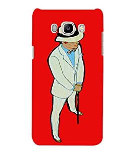 PrintVisa Classy Gentleman Design 3D Hard Polycarbonate Designer Back Case Cover for Samsung Galaxy J7 2016 Edition