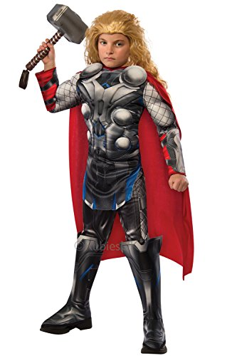 Deluxe Thor Marvel Avengers Age Of Ultron Rubies Childrens Costume Or Hammer