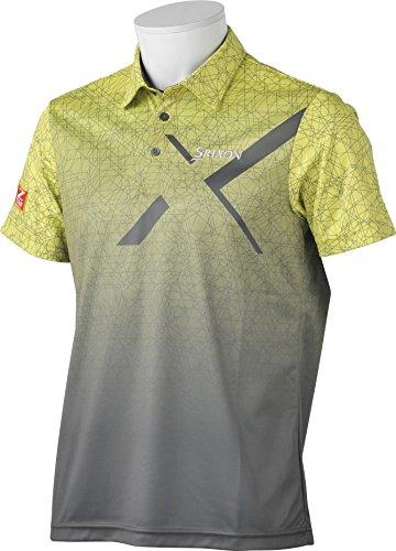 (スリクソン)SRIXON メンズゴルフ 半袖シャツ SRM1616S  LIMライム M