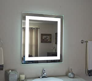 wall mounted lighted vanity mirror led mam82832 commercial. Black Bedroom Furniture Sets. Home Design Ideas