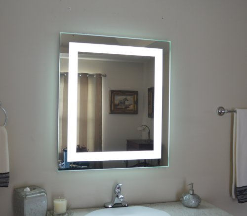 "Wall Mounted Lighted Vanity Mirror Led Mam82832 Commercial Grade 28"" Wide X 32"" Tall"