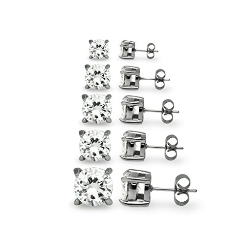 5-pair-set-of-stainless-steel-sparkling-cz-stud-earrings-3mm-4mm-5mm-6mm-7mm