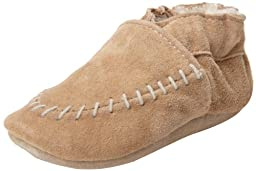 Robeez Cozy Moccasin Crib Shoe (Infant), Taupe, 12-18 Months M US Infant