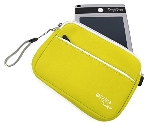 Duragadget Lemon Yellow Protective Neoprene Carry Case For Boogie Board 8.5 Inch, Boogie Board Jot 8.5 Inch Writing Tablet & Personal Organiser (All Colours) With Front Zip Pocket