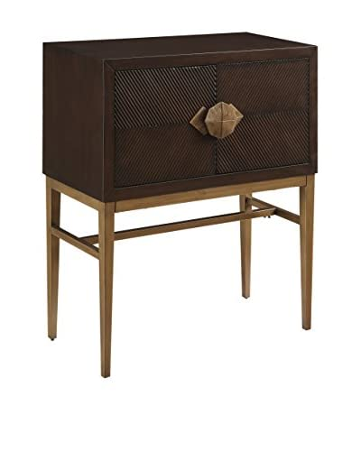 Coast to Coast Contemporary 2-Door Bar Cabinet, Brown