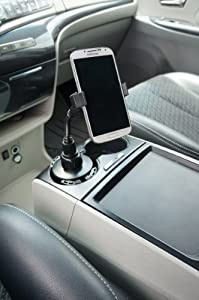 ChargerCity HD-6X Car Vehicle Drinks Cup Holder Mount with 8-inch Flexible Neck for Smartphones