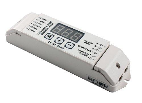 Bc-834 Led Dmx Pvm Dimmer 4 Channel Multi-Function Dmx512 Constant Voltage Decoder