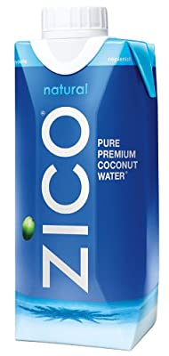 ZICO Pure Premium Coconut Water, Natural, 11.2 Ounce (Pack of 12)