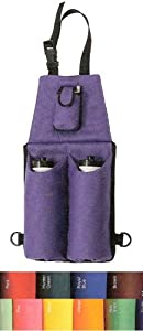 NEW Heav Denier Nylon Double Water Bottle Cell Phone Saddle Bag, YELLOW