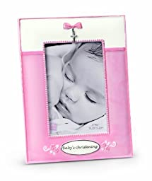 Russ Berrie Small Blessings Christening Photo Frame, Pink