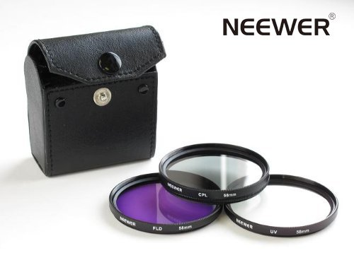 Neewer 58mm 3-PC Filter Kit for Canon Rebel XSi XT T1i 18-55mm & More!