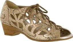Bella Vita Women\'s Pixie II,Champagne Snake Fabric,US 9.5 WW
