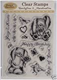 Daisy & Dandelion Docrafts Clear Stamp Set Of 14,'Candyfloss & Marshmallow' 6X7